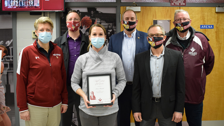 Anna Bratsch with members of the VCSU President's Cabinet