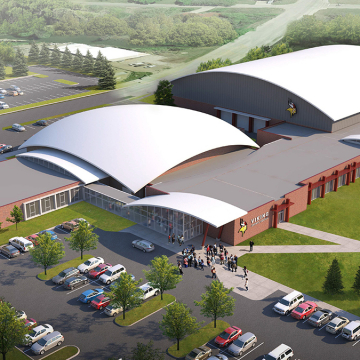 Architect rendering of the proposed addition to the W.E. Osmon Fieldhouse