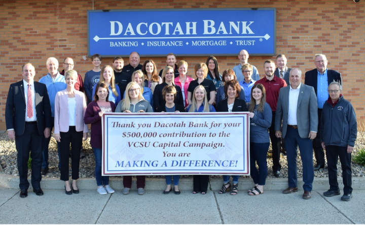 Dacotah Bank Employees present a Capital Campaign gift to Valley City State University