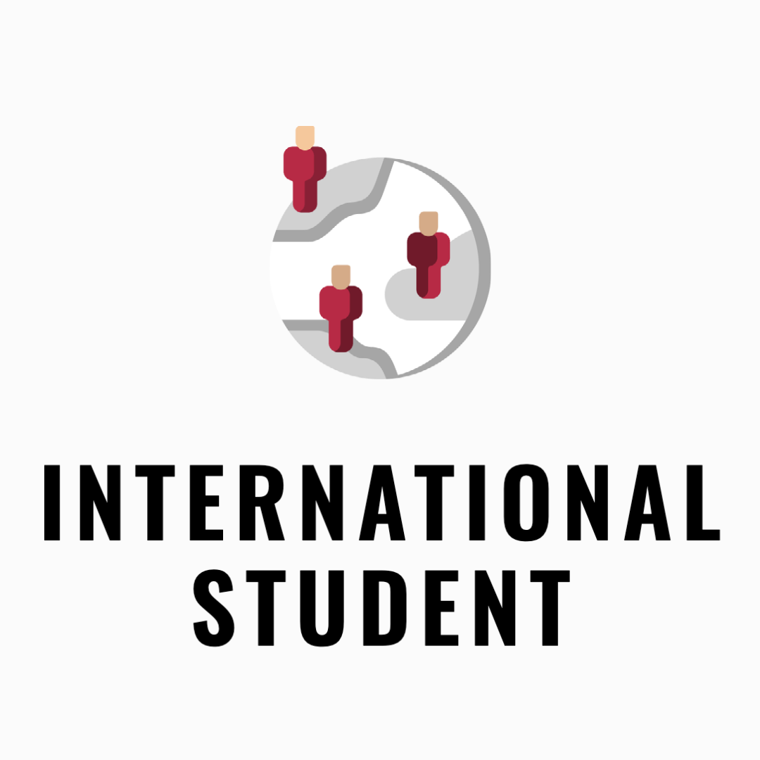international Student admission icon with a globe and arrows