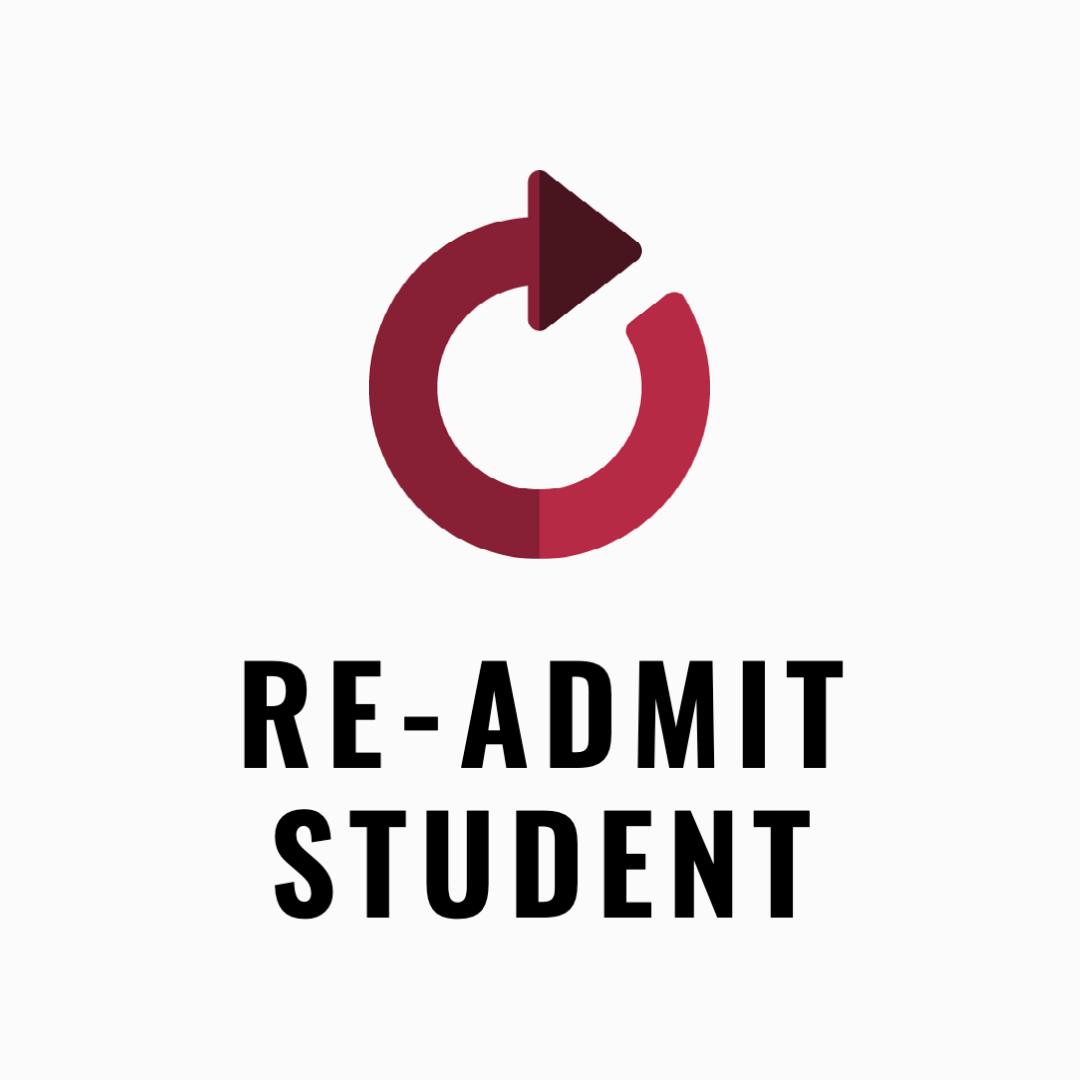 Readmit student icon