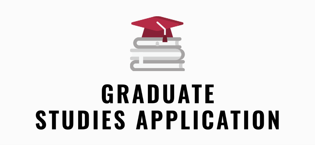 Graduate admission icon with books and a graduation cap