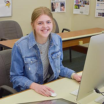 VCSU student Bailey Nelson