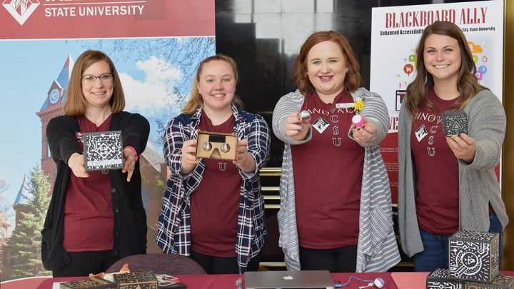 Assistant Professor Harmony Richman and VCSU students