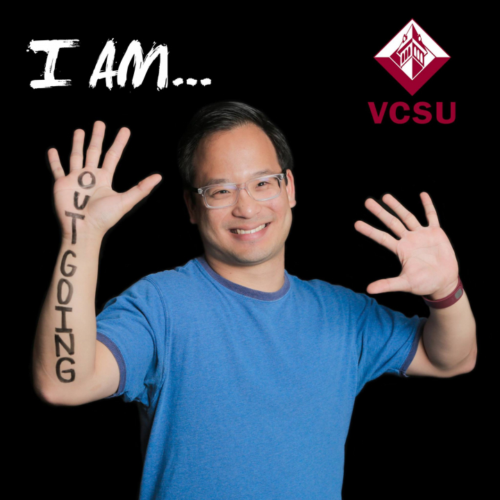 "VCSU Student with ""I Am Outgoing"""