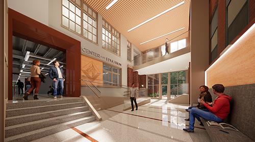 Architect rendering of McCarthy Atrium