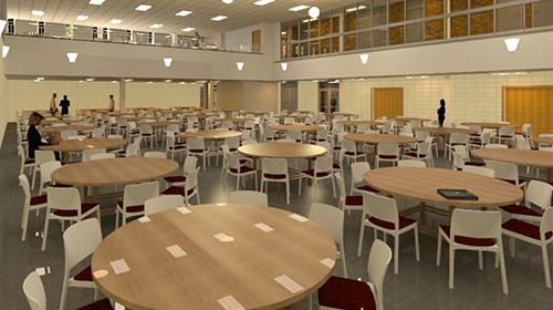 Architect rendering of Student Center Multipurpose Room