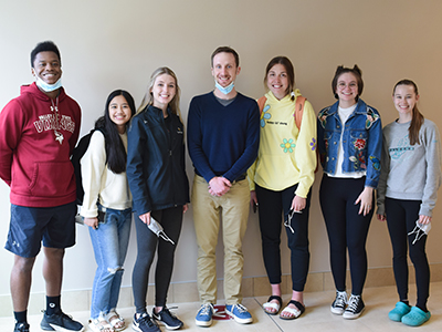 Kevin Murphy with students