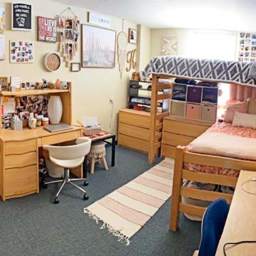 Double occupant dorm room in Kolstoe Hall