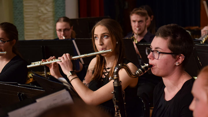 Students performing at one of VCSU's many recitals