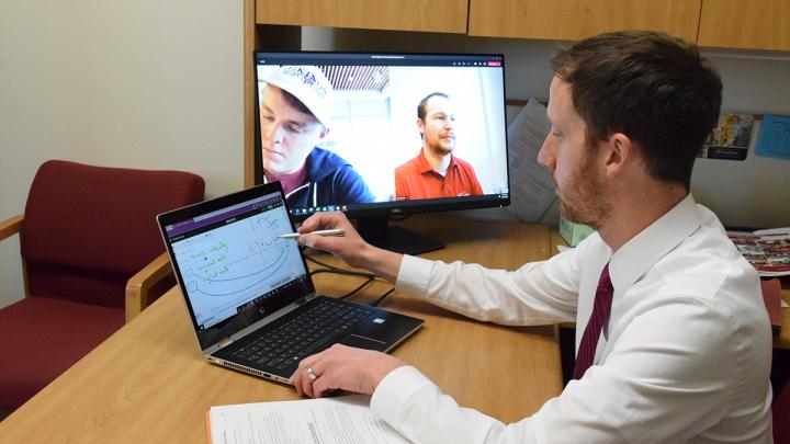 Dr. Kevin Murphy teaching a math course