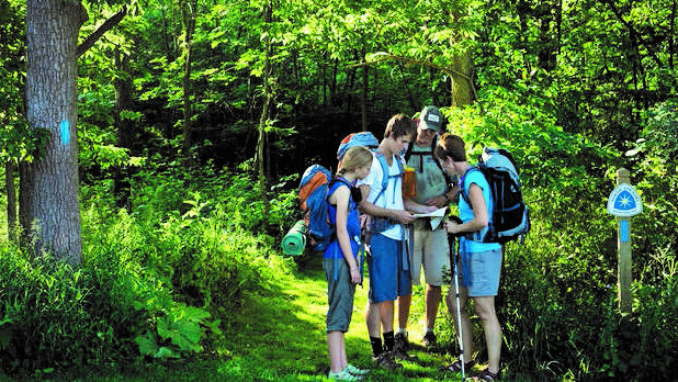 Hikers on the North Country Scenic Trail
